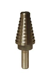 "MK Morse ESD08 - Step Drill Bit, HSS 9/16""-1"" (7 Steps by 1/16"")"