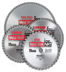 "MK Morse CSM972NAC - Metal Cutting Circular Saw Blade 9"" 72T, Aluminum, 1"" Arbor"