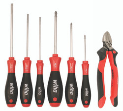 Wiha 30288 - SoftFinish Drivers & Cutters 7 Pc. Set