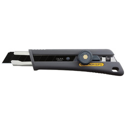 Olfa NOL-1BB - Rubber grip ratchet-lock utility knife