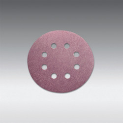 "Sia Abrasives - 5"", 8 hole Velcro Sanding Disc 80 Grit Box/100Pcs"