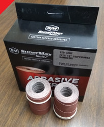 SuperMax Tools 60-19-000 - Precut Abrasive Strips for 25x50, 36/80/120G Mix 3/Pkg