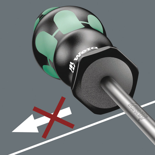 The hexagonal non-roll feature prevents any rolling away at the workplace.