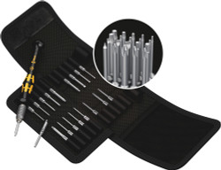 Wera 05073671001 - Kraftform Kompakt Micro-Set Esd/20 Sb Bit Set With Handle And Inter-Changeable Blades