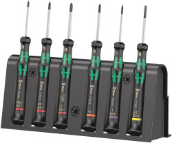 Wera 05030181001 - 2050/6 Screwdriver Set For Electronic Applications