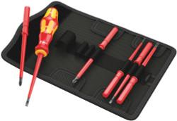 Wera 05003470001 - Kraftform Kompakt Vde 60 I/7 Bit Set With Handle And Inter-Changeable Blades