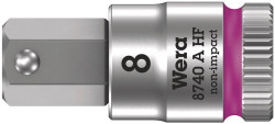 """Wera 05003335001 - 8740 A Hf Zyklop Bit Socket With 1/4"""" Drive With Holding Function, 5,0 X 28 Mm"""