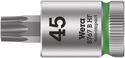 "Wera 05003071001 - 8767 B Hf Tx 45 X 100 Mm Zyklop Bit Socket With 3/8"" Drive Holding Function"