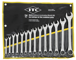 ITC 020211 - (ICW-14PM) 14 PC Metric Polished Combination Wrench Set