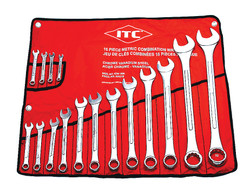 ITC 020216 - (ICW-16M) 16 PC Metric Combination Wrench Set