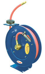 "Jet 391721 - (AW3825) 3/8"" x 25' Retractable Air/Water Hose Reel – Heavy Duty"