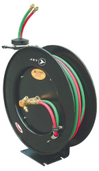 "Jet 391746 - (OA1450) 1/4"" x 50' Retractable Oxy-Acetylene Hose Reel - Heavy Duty"