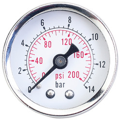 "Jet 408813 - (RPGMIS18) Pressure Gauge - 1/8"" NPT Miniature, Intermediate, Standard"