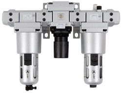 "Jet 408852 - (AFRLMM14) 3 PC Air Filter, Regulator and Lubricator 1/4"" NPT - Miniature"