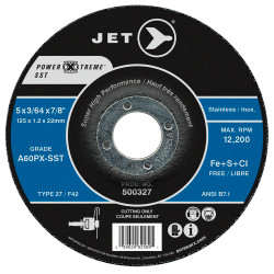 Jet 500327 - 5 x 3/64 x 7/8 A60PX-SST POWER-XTREME SST T27 Cut-Off Wheel