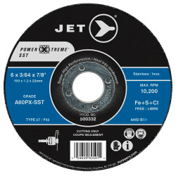 Jet 500337 - 7 x 1/16 x 7/8 A46PX-SST POWER-XTREME SST T27 Cut-Off Wheel