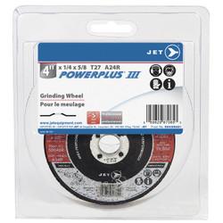Jet 500408 - 4 x 1/4 x 5/8 A24R POWERPLUS T27 Grinding Wheel