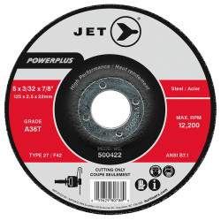Jet 500422 - 5 x 3/32 x 7/8 A36T POWERPLUS T27 Cut-Off Wheel