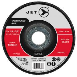 Jet 500425 - 5 x 1/8 x 7/8 A30DUO POWERPLUS DUO T27 Cutting/Grinding Wheel