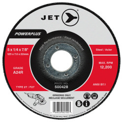Jet 500432 - 6 x 1/4 x 7/8 A24R POWERPLUS T27 Grinding Wheel