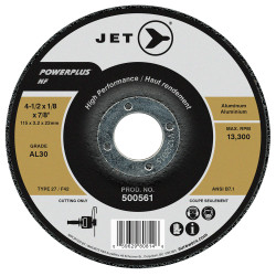 Jet 500561 - 4-1/2 x 1/8 x 7/8 AL30 POWERPLUS NF T27 Cutting Wheel