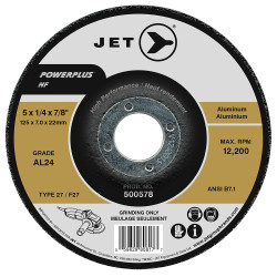 Jet 500578 - 5 x 1/4 x 7/8 AL24 POWERPLUS NF T27 Grinding Wheel