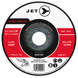 Jet 500712 - 4 x 1/4 x 5/8 A24R POWER ABRASIVE T27 Grinding Wheel