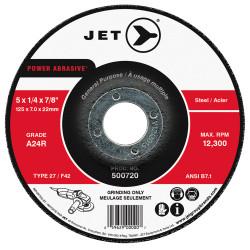 Jet 500720 - 5 x 1/4 x 7/8 A24R POWER ABRASIVE T27 Grinding Wheel