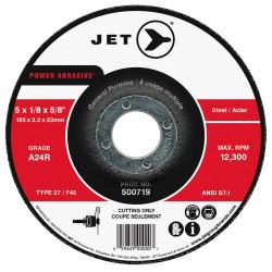Jet 500725 - 7 x 1/8 x 7/8 A24R POWER ABRASIVE T27 Cut-Off Wheel