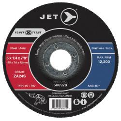 Jet 500928 - 5 x 1/4 x 7/8 ZA24S POWER-XTREME T27 Grinding Wheel