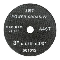 Jet 501012 - 3 x 1/16 x 3/8 A46T POWER ABRASIVE T1 Cut-Off Wheel