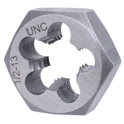"""Jet 530780 - 1/2""""-20 NF Alloy Steel S.A.E. Hex Dies (1"""" Hex)"""