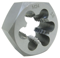 "Jet 530815 - 6mm-0.75 Alloy Steel Metric Hex Dies (1"" Hex)"