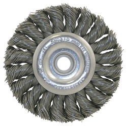 Jet 550306 - (2230903) 8 x (5/8-1/2) Knot Twisted Wire Wheel - Unthreaded