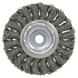 Jet 550310 - (3K114) 3-1/4 x (3/8-1/2) Knot Twisted Wire Wheel - Unthreaded