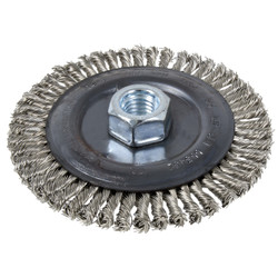 Jet 553441 - (6SB120-SST) 4 x 1/4 x 5/8-11 NC Stainless Steel Stringer Bead Brush