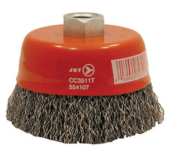 Jet 553501 - (CC420T) 4 x 5/8-11 NC Crimped Wire Cup Brush