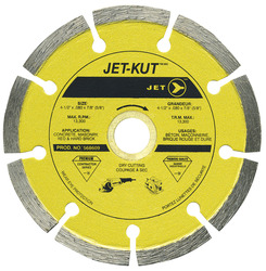 Jet 568615 - (DST–5) 5 x .080 x 7/8 (5/8) JET-KUT Premium Segmented Diamond Blade