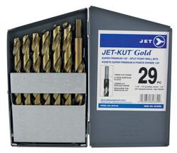 Jet 570143 - (GF–29RS) 29 PC JET-KUT GOLD Super Premium Reduced Shank Drill Bit Set