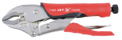 """Jet 730456 - (J7WRG) 7"""" Curved Jaw Locking Pliers with Cutter - Cushion Grip"""