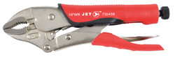 """Jet 730459 - (J10WRG) 10"""" Curved Jaw Locking Pliers with Cutter - Cushion Grip"""