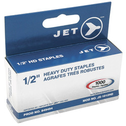 "Jet 849494 - (JS-1012HD) 1/2"" Staples (1,000 PCS) - Heavy Duty"