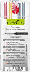 Pica 4020 - Pica DRY Refill-Set Graphite/Red/Yellow (8)