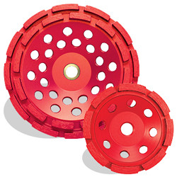 Pearl PV04CDH - 4 X 5/8-11 P2 Pro-V Concrete & Masonry Cup Wheel, Double Row