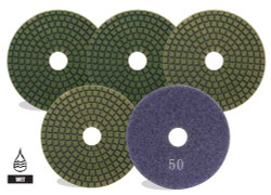 "Pearl SPS4100 - 4"" 100 Grit Wet Polishing Pads"