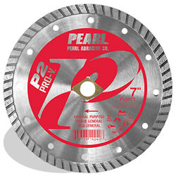 Pearl PV007T - 7 X .090 X Dia, 5/8 P2 Pro-V Gen. Purpose Flat Core Turbo Blade, 10MM Rim