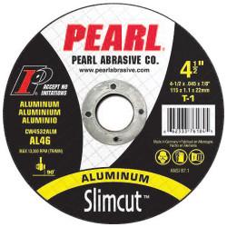 Pearl CW4532ALM - 4.5 X .045 X 7/8 Slimcut T-1 Aluminum Thin Cut-Off Wheels, A36, Box Of 25