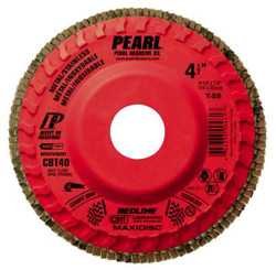 Pearl MAX4560CBT - 4-1/2 X 7/8 Redline Cbt Maxidisc Trimmable Flap Discs, Type 29 Shape Box Of 10