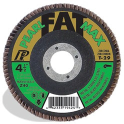 Pearl MAX5040ZJ9 - 5 X 7/8 Fatmax Zirconia Maxidisc Flap Discs For Metal/Stainless Steel, Type 29 Shape Box Of 10
