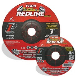 Pearl DCRED60 - 6 X 1/4 X 7/8 Redline Max-A.O. Depressed Center Grinding Wheel, Box Of 10, Pipeline